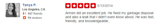 Yelp review from a client