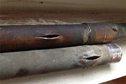 Burst Copper Pipe Broken Pipes Los Angeles
